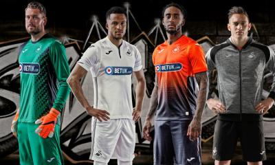 Swansea City 2018 2019 Joma Home and Away Football Kit, Soccer Jersey, Shirt