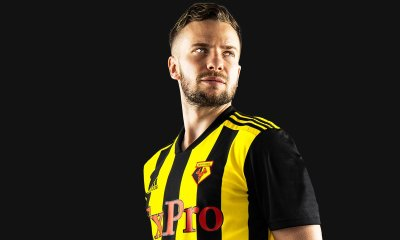 Watford FC 2018 2019 adidas Home Football Kit, Soccer Jersey, Shirt