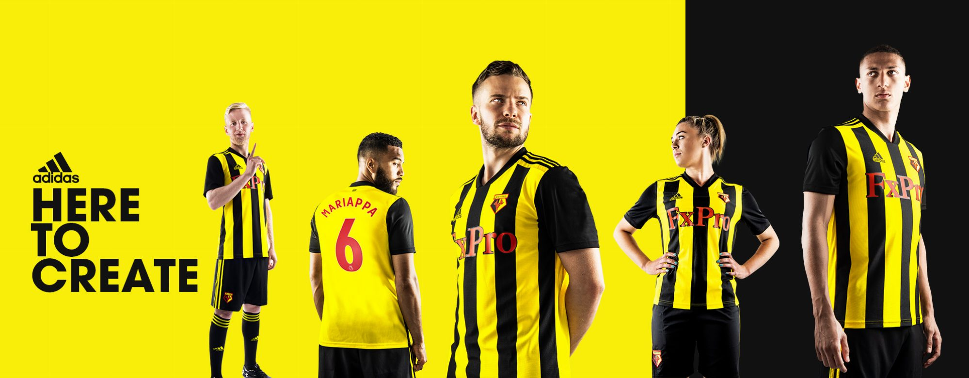 185d83109 Watford FC 2018 19 adidas Home Kit – FOOTBALL FASHION.ORG
