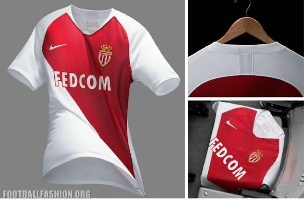 AS Monaco 2018 2019 Nike Home Football Kit, Soccer Jersey, Shirt, Maillot, Camiseta, Trikot, Camisa