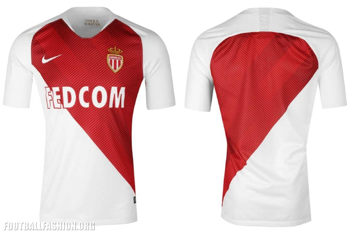 fad1acf5d39 AS Monaco 2018 2019 Nike Home Football Kit, Soccer Jersey, Shirt, Maillot,