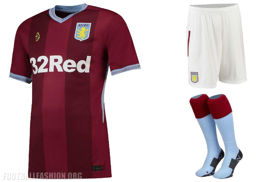 7d797f4a2ab Aston Villa 2018 2019 Home and Away Football Kit, Soccer Jersey, Shirt