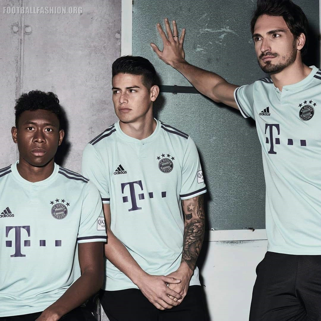 Bayern Munich 201819 adidas Away Kit FOOTBALL FASHION.ORG