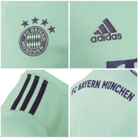 Bayern Munich 2018 2019 adidas Away Football Kit, Soccer Jersey, Shirt, Trikot, Maillot, Tenue, Camisa, Camiseta