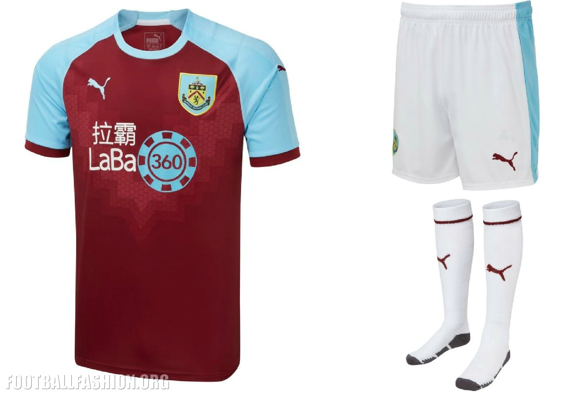 d0b7accc4 Burnley FC 2018 2019 PUMA Home Football Kit, Soccer Jersey, Shirt
