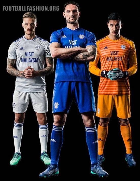 ded50ad1b Cardiff City FC 2018 19 adidas Away and Third Kits – FOOTBALL ...