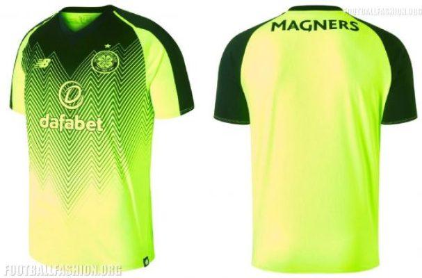 Celtic Football Club 2018 2019 New Balance Third Football Kit, Soccer Jersey, Shirt
