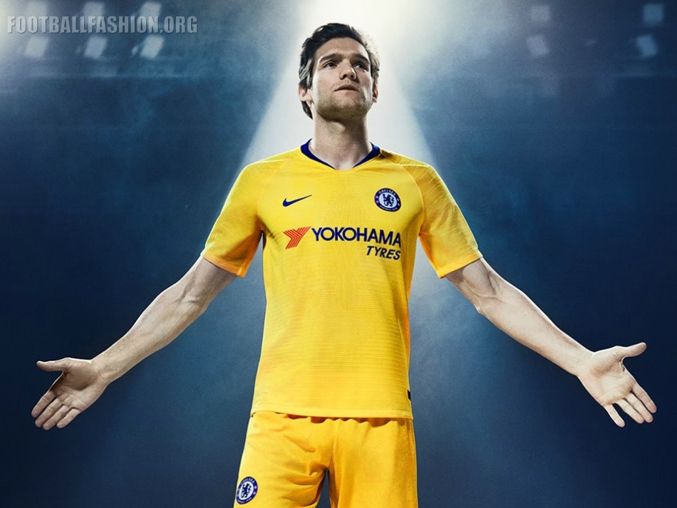 size 40 2fc32 5430b Chelsea FC 2018/19 Nike Away Kit - FOOTBALL FASHION.ORG