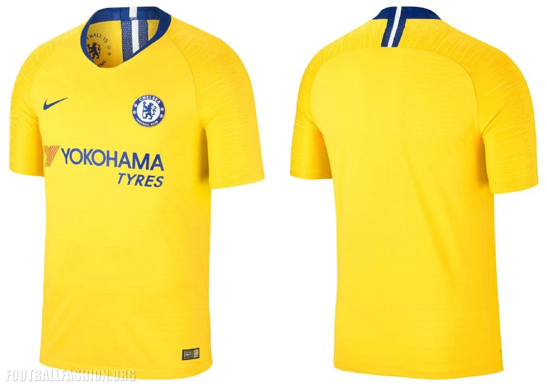 b08be405833 Chelsea FC 2018 2019 Nike Yellow Away Football Kit, Soccer Jersey, Shirt,  Camiseta