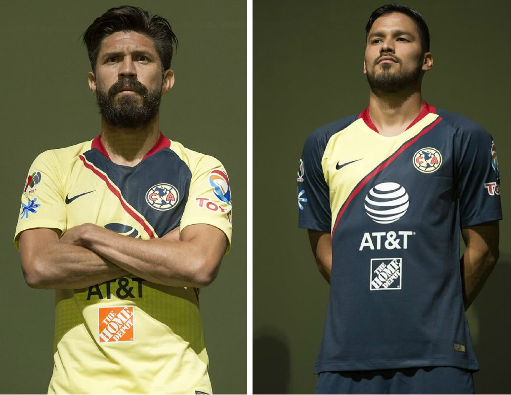 42176145dc3 Club América 2018 19 Nike Home and Away Jerseys - FOOTBALL FASHION.ORG