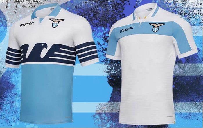 SS Lazio 2018 and 2019 Macron Home and Europa League Football Kit, Soccer Jersey, Shirt, Gara, Maglia, Camiseta, Camisa