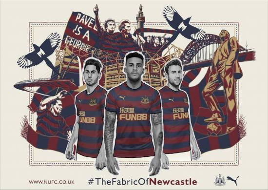 Newcastle United 2018 2019 PUMA Home Football Kit, Soccer Jersey, Shirt