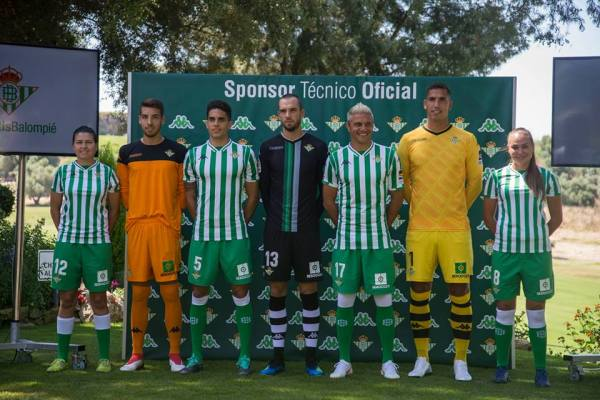 Real Betis 2018 2019 Kappa Home Football Kit, Soccer Jersey, Shirt, Camiseta de Futbol