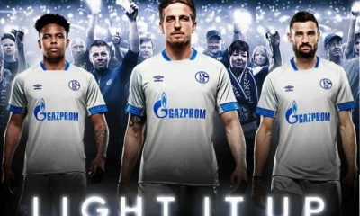 Schalke 04 2018 2019 Umbro Away Football Kit, Soccer Jersey, Shirt, Trikot