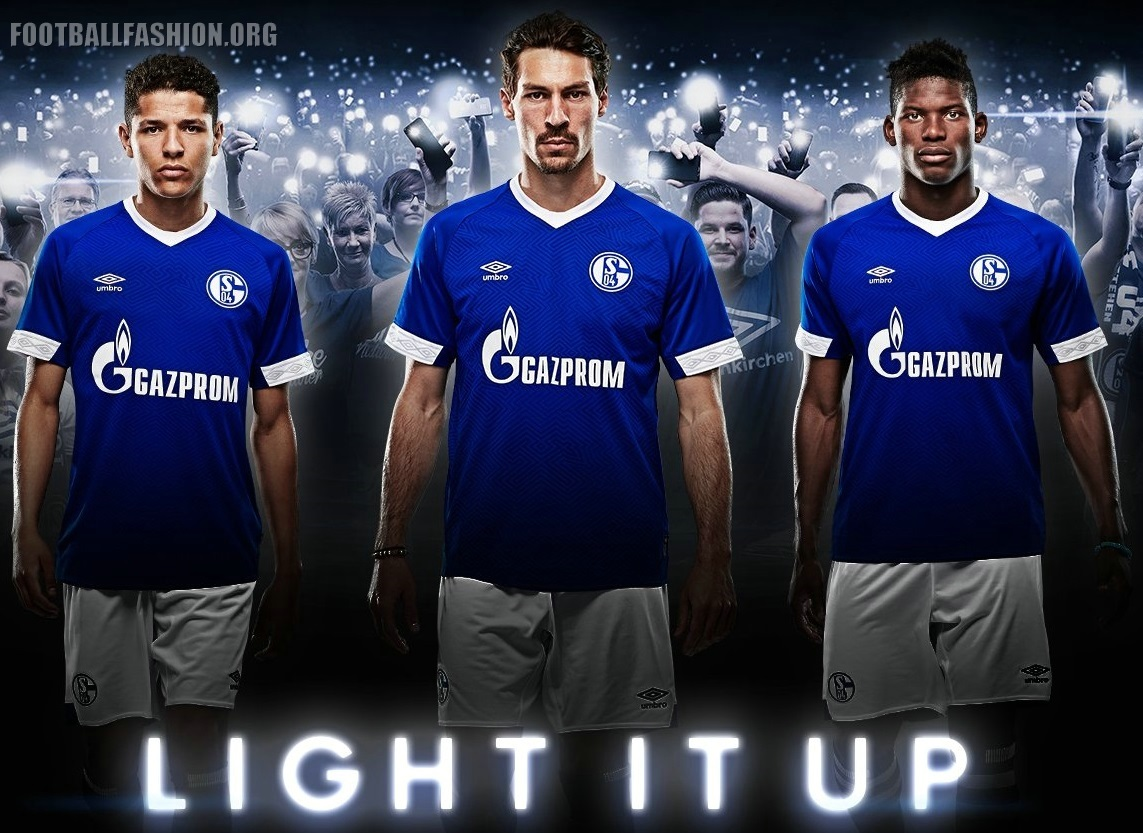918e2ff5d90 Schalke 04 2018 2019 Umbro Home Football Kit, Soccer Jersey, Shirt, Trikot,