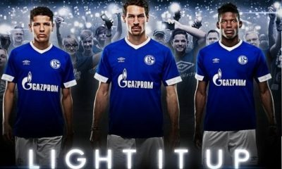 Schalke 04 2018 2019 Umbro Home Football Kit, Soccer Jersey, Shirt, Trikot, Heimtrikot