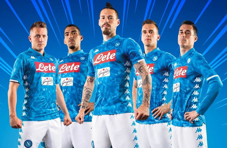 42ead8b4511c8 SSC Napoli 2018 19 Kappa Home Kit - FOOTBALL FASHION.ORG