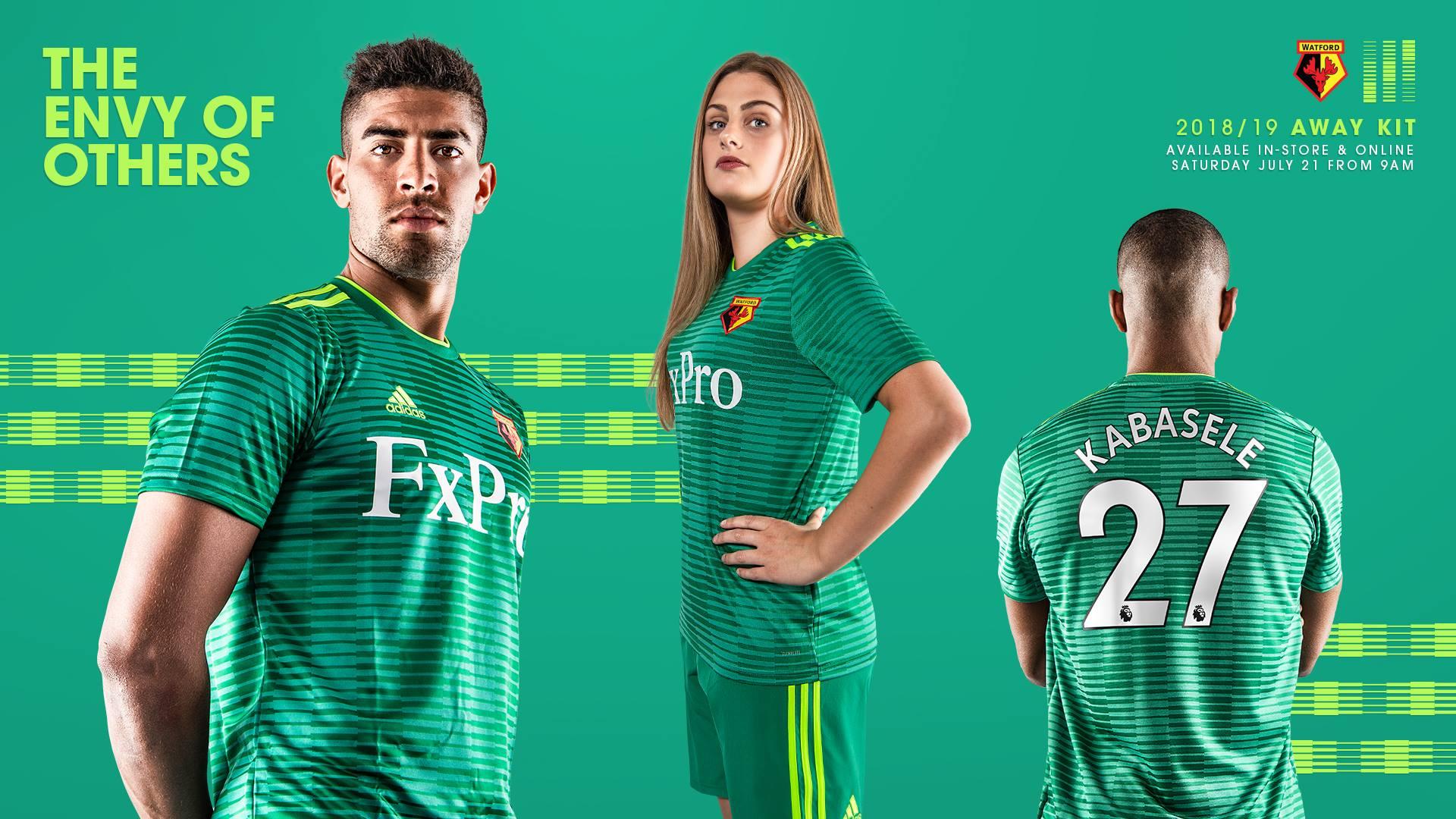 bdd5c046d2f Watford FC 2018 19 adidas Away Kit - FOOTBALL FASHION.ORG