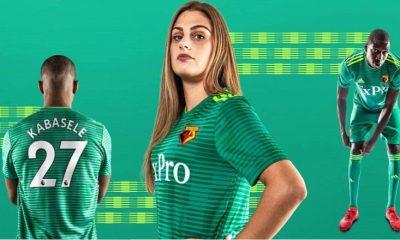 Watford FC 2018 2019 adidas Away Football Kit, Soccer Jersey, Shirt