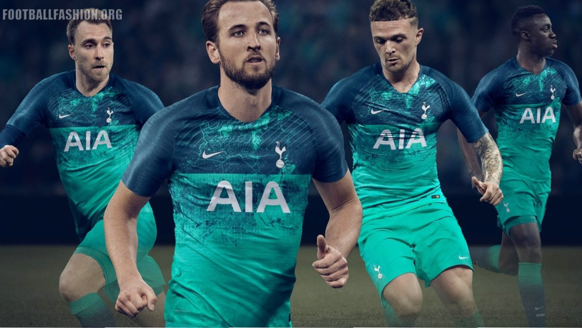 acc616a882622 Tottenham Hotspur 2018 2019 Nike Green Third, Soccer Jersey, Shirt, Camiseta,  Maillot