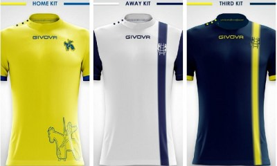 AC Chievo Verona 2018 2019 Givova Home, Away and Third Football Kit, Soccer Jersey, Shirt, Maglia, Gara