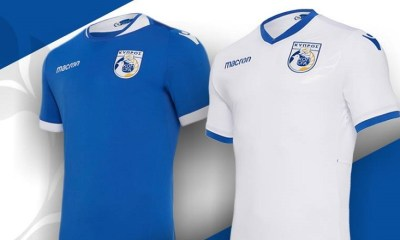 Cyprus 2018 2019 Macron Home and Away Football Kit, Soccer Jersey, Shirt