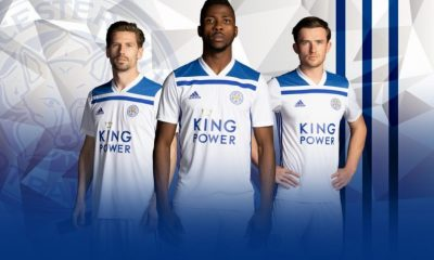 Leicester City FC 2018 2019 adidas White Third Football Kit, Soccer Jersey, Shirt