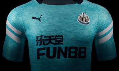 Newcastle United 2018 2019 PUMA Blue Third Football Kit, Soccer Jersey, Shirt, Maillot, Camiseta, Camisa, Trikot