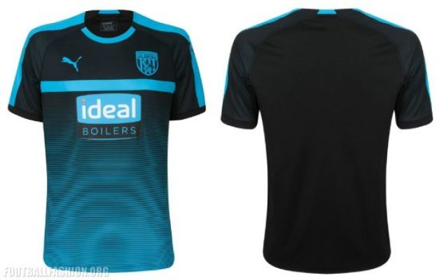 West Bromwich Albion 2018 2019 PUMA Away and Third Football Kit, Soccer Jersey, Shirt