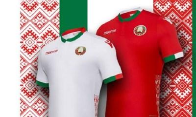 Belarus 2018 2019 Macron Home and Away Football Kit, Soccer Jersey, Shirt