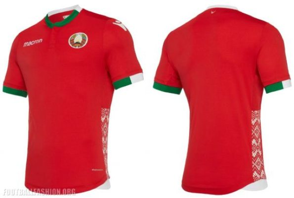 Belarus 2018 2019 Macron Home and Away Football Kit, Soccer Jersey, Shirt