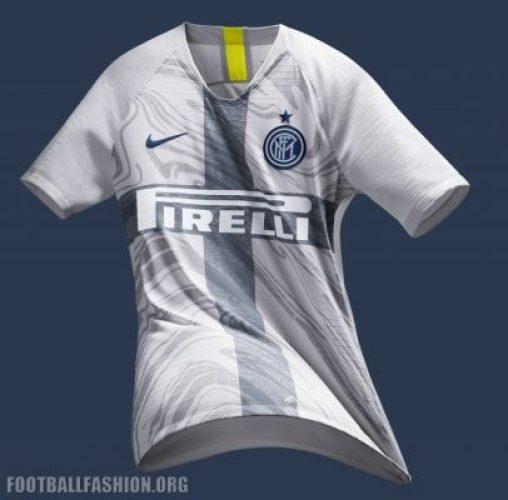 Inter Milan 2018 2019 Nike White Third Football Kit, Soccer Jersey, Shirt, Maglia, Gara, Camiseta, Camisa, Maillot