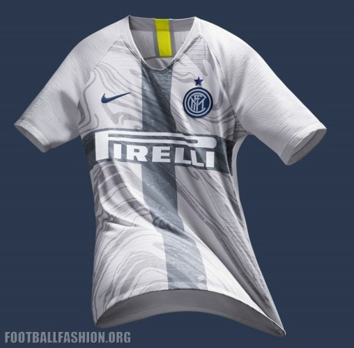 Inter Milan 2018 2019 Nike White Third Football Kit, Soccer Jersey, Shirt, Maglia, Gara, Camiseta, Camisa, Maillot