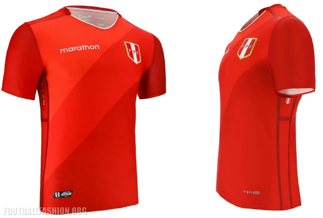 3c576088e4e Peru 2018 2019 Marathon Sports Red Away Soccer Jersey, Football Shirt, Shirt,  Camiseta