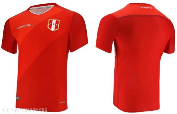 Peru 2018 2019 Marathon Sports Red Away Soccer Jersey, Football Shirt, Shirt, Camiseta de Futbol, Equipacion