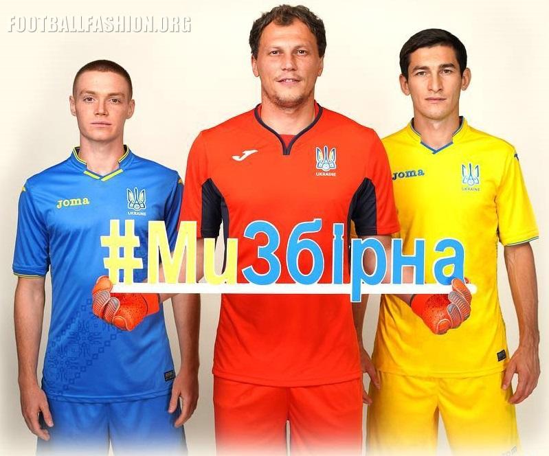 Ukraine 2018 19 Joma Home And Away Kits Football Fashion Org
