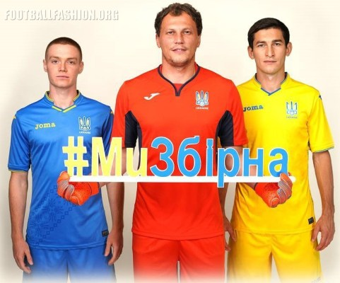 Ukraine 2018 2019 Joma Home and Away Football Kit, Soccer Jersey, Shirt