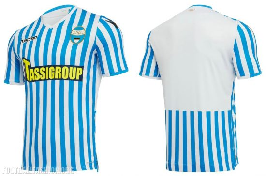 SPAL 2018 2019 Macron Home, Away and Third Football Kit, Soccer Jersey, Shirt, Maglia, Gara