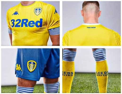 Leeds United 2018 2019 Kappa Home, Away and Third Football Kit, Soccer Jersey, Shirt