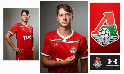 Lokomotiv Moscow UEFA Champions League 2018 2019 Under Armour Football Kit, Soccer Jersey, Shirt