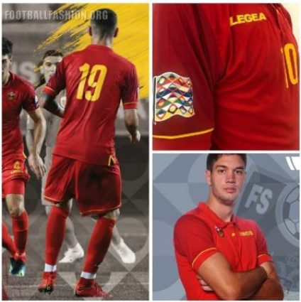 Montenegro 2018 2019 Legea Home and Away Football Kit, Soccer Jersey, Shirt