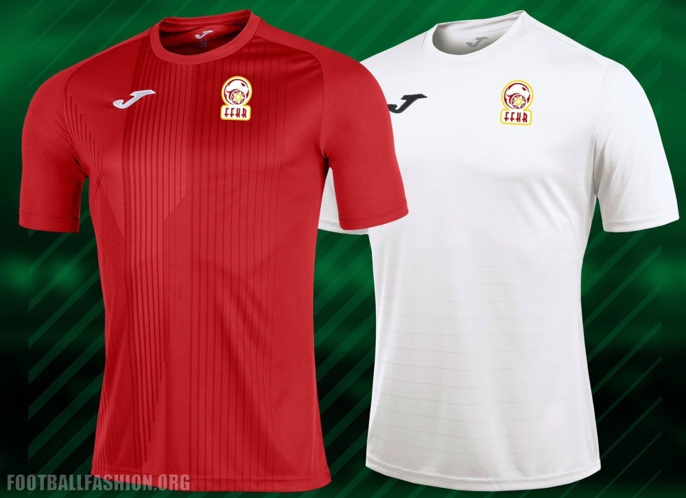 The Kyrgyzstan 2019 Joma home kit is all red to match the color of the  country s flag and to symbolize valor and courage. It is detailed with a  series of ... 86524f197