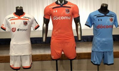 Omiya Ardija 2019 Under Armour Home and Away Football Kit, Soccer Jersey, Shirt