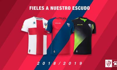 6SD Huesca 2018 2019 Kelme Home, Away and Third Football Kit, Soccer Jersey, Shirt, Equipacion, Camiseta de Futbol