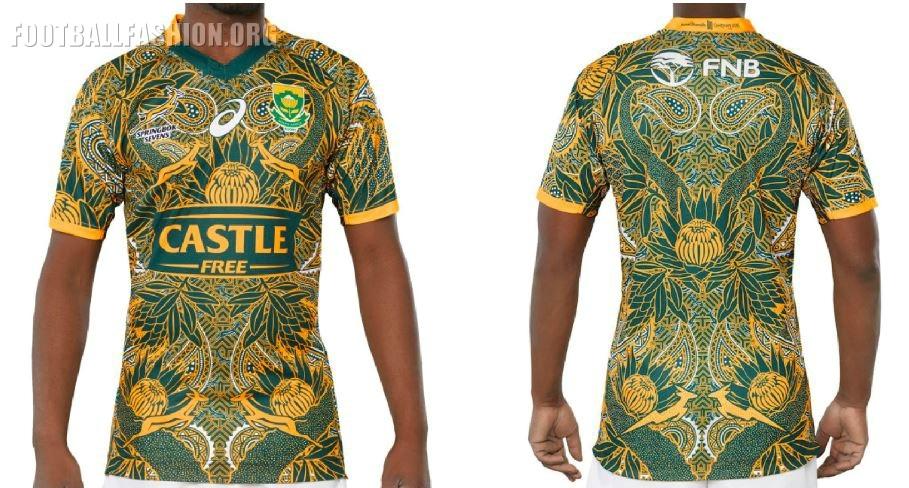 51139ba613b South Africa Nelson Mandela 2018 2019 Centenary Asics Rugby Jersey, Shirt,  Kit