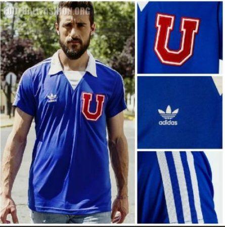 Club Universidad de Chile 2018 2019 adidas Retro Football Kit, Soccer Jersey, Shirt, Camiseta de Futbol Edición limitada