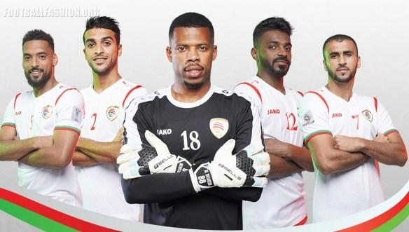 Oman 2019 Jako Home and Away Football Kit, Soccer Jersey, Shirt