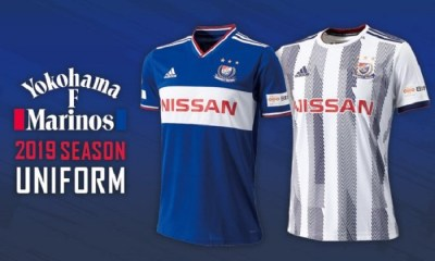 Yokohama F. Marinos 2019 adidas Home and Away Football Kit, Soccer Jersey, Shirt