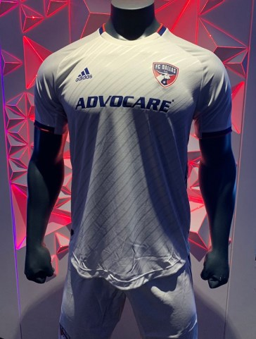 FC Dallas 2019 adidas  White Away Soccer Jersey, Shirt, Football Kit, Camiseta de Futbol MLS