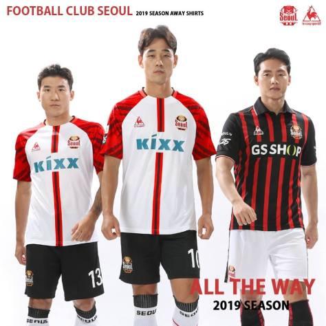 FC Seoul le coq sportif 2019 Away Football Kit, Soccer Jersey, Shirt